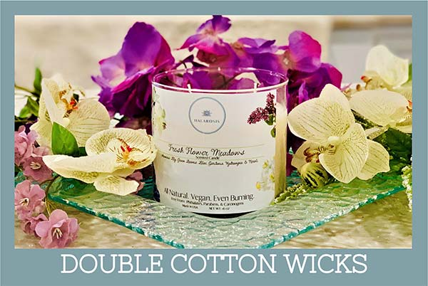 Double Cotton Wick Candles