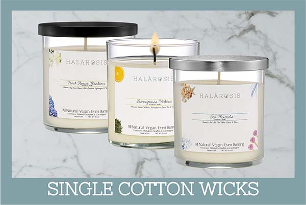 Single Cotton Wick Candles